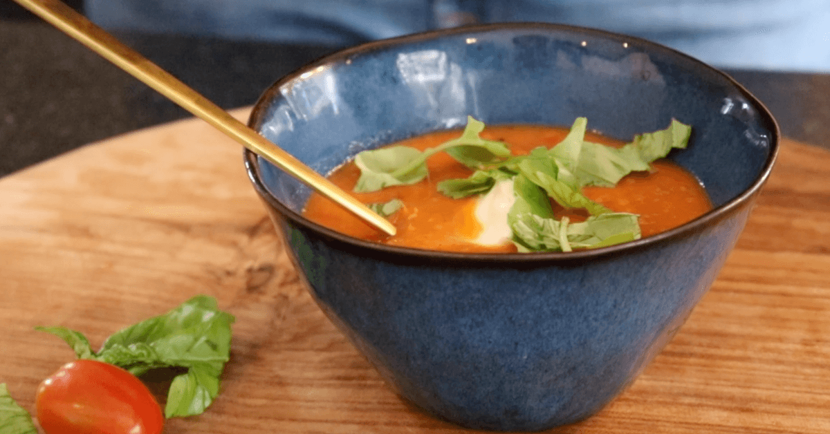 Gegrilde tomatensoep